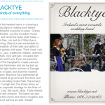 BlackTye: Part of Hot Press Magazine's Wedding Bands to Want feature.