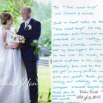 Beautiful handwritten note The Good Guys received  from happy couple Erin and Daniel.